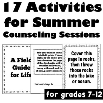 A Field Guide for Life: 17 Pro-Social Adventures for Summer Counseling Sessions