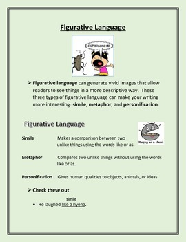 Figurative Language Lesson for Descriptive Writing