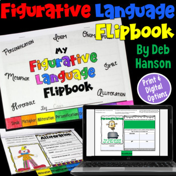 Figurative Language Flipbook Literary Devices By Deb Hanson Tpt