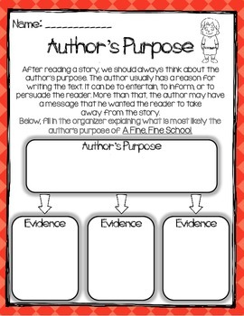 A Fine, Fine School Book Study:Organizers and Interactive Notebook Pages