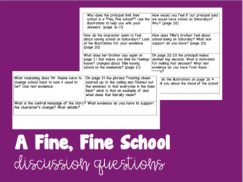 A Fine, Fine School Discussion Questions