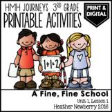 A Fine, Fine School: Journeys 3rd Grade Lesson 1 • Print &