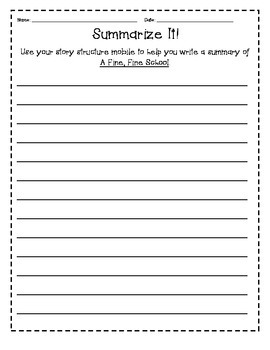 A Fine, Fine School Journeys 3rd Grade Unit 1 Resources