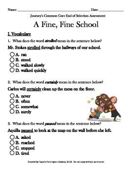 A Fine, Fine School - Journeys Common Core - Grade 3