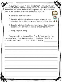 A Fine, Fine School-Journeys Grade 3-Lesson 1