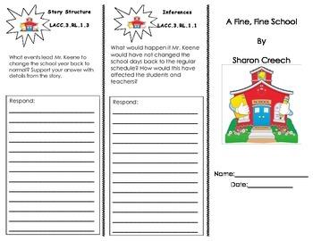 A Fine, Fine School Journeys HMH Trifold/ 3rd Grade