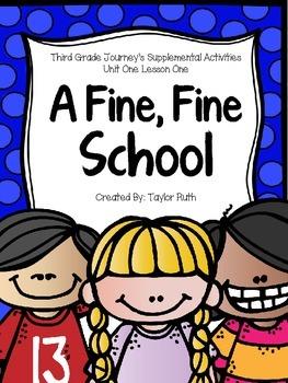 A Fine, Fine School Journey's Supplemental Activities -- Third Grade Lesson One