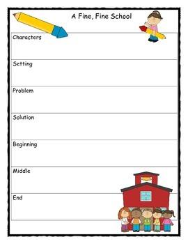A Fine, Fine School Story Map Graphic Organizer
