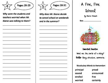 A Fine Fine School Trifold - Journeys 3rd Grade Unit 1 Week 1 (2011)
