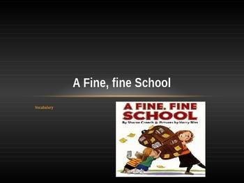 A Fine, Fine School: Vocabualry Journey's Lesson 1