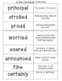 Journey's Lesson 1 A Fine, Fine School Vocabulary with Def