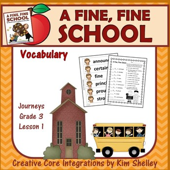 A Fine Fine School - Vocabulary Foldables and Word Wall