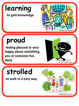 ReadyGen A Fine, Fine School Vocabulary 1st Grade Unit 2  Module A