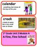 ReadyGen A Fine, Fine School Vocabulary 1st Grade Unit 2