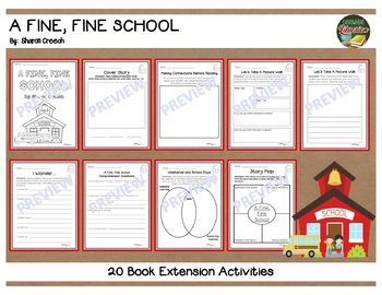 A Fine Fine School by Creech 20 Extension Activities NO PREP