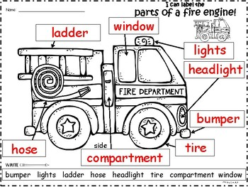 A+ Fire Engine Labels