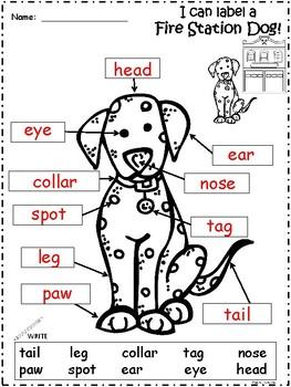 A+ Fire Station Dog Labels
