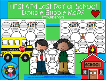 A+ First Day & Last Day Of School:  Double Bubble Maps
