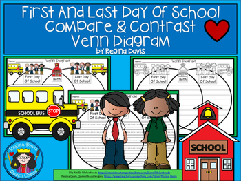 A+ First Day of School & Last Day of School Venn Diagram...Compare and Contrast