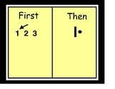"""A """"First"""" """"Then"""" chart used in Special Education"""
