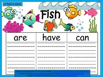 A+  Fish (Plural) ... Three Graphic Organizers