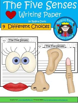 A+ Five Senses ... Writing Paper