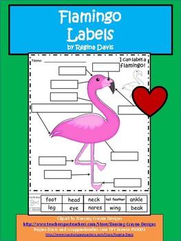 A+ Flamingo Labels