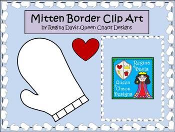 A+ Mitten Border Clip Art