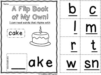 A Flip Book of My Own! 24 word family flip books!