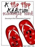A Flip Flop Addition Scavenger Hunt {Commutative Property}