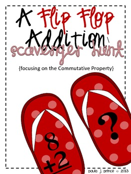 A Flip Flop Addition Scavenger Hunt {Commutative Property}