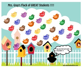 A Flock of GREAT Students Animated Attendance File