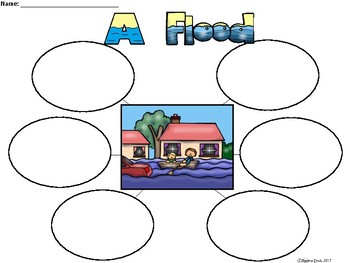 A+ Flood ...Three Graphic Organizers