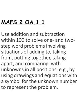 A+ Florida Standards: 2nd Grade Math Essential Questions,Learning Goals & Scales