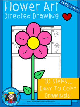 A+ Flower Art: Directed Drawing