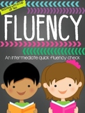 A Fluency Check: Fluency for the Intermediate Grades