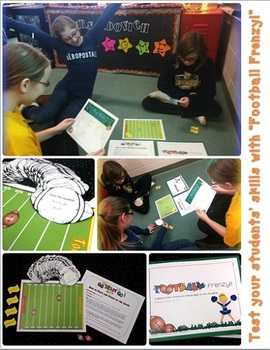 A Football Frenzy!!: Common Core Language Arts and Math Skills