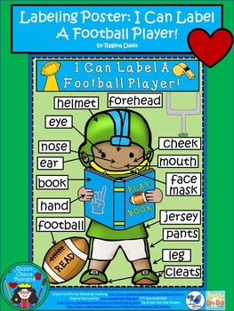 A+ Football Player....Label Poster