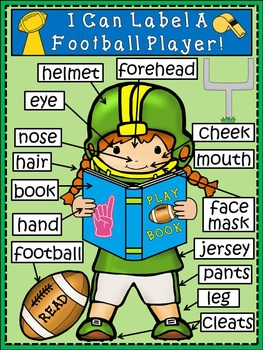 A+ Football Player....Girl  Label Poster