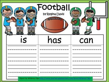 A+  Football: Three Graphic Organizers