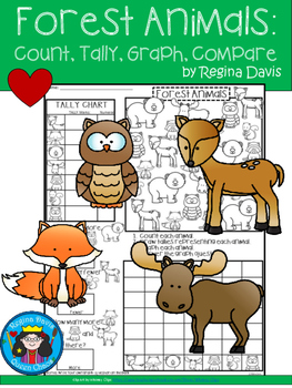 A+ Forest Animals... Count, Tally, Graph, and Compare