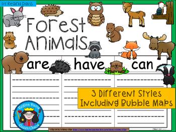 A+ Forest Animals ...Three Graphic Organizers