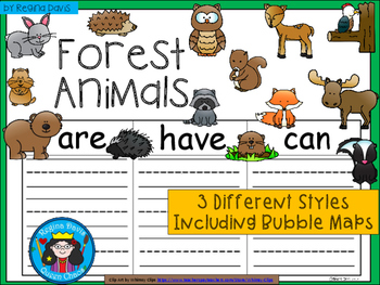 A+ Forest Animals ...Three Graphic Organizers