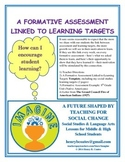 A Formative Assessment Linked to Learning Targets