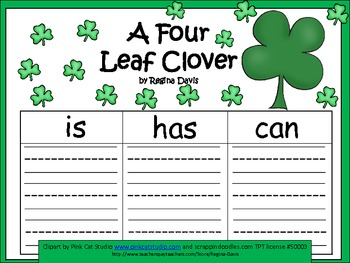 A+ Four Leaf Clover... Three Graphic Organizers