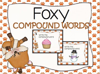 Foxy Compound Words Task Card