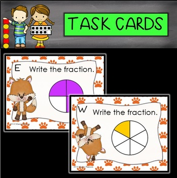 Foxy Fraction Task Cards