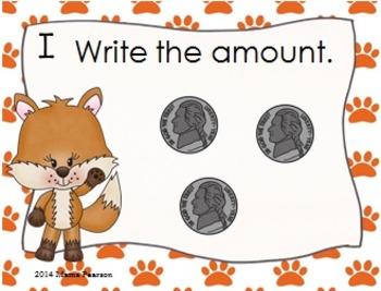 Foxy Money Task Cards