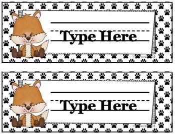 Foxy Name Plate Set