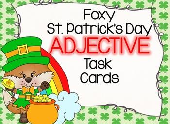 Foxy St. Patrick's Day Adjective Task Cards